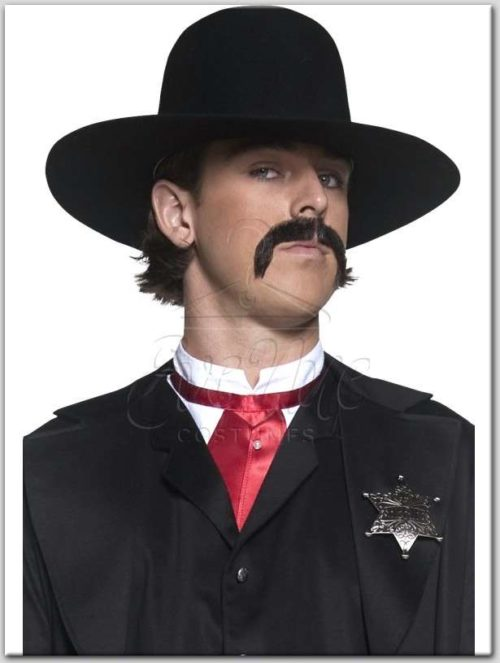 Fekete sheriff kalap az EveNue Costumes Jelmezkölcsönző szalon kínálatából